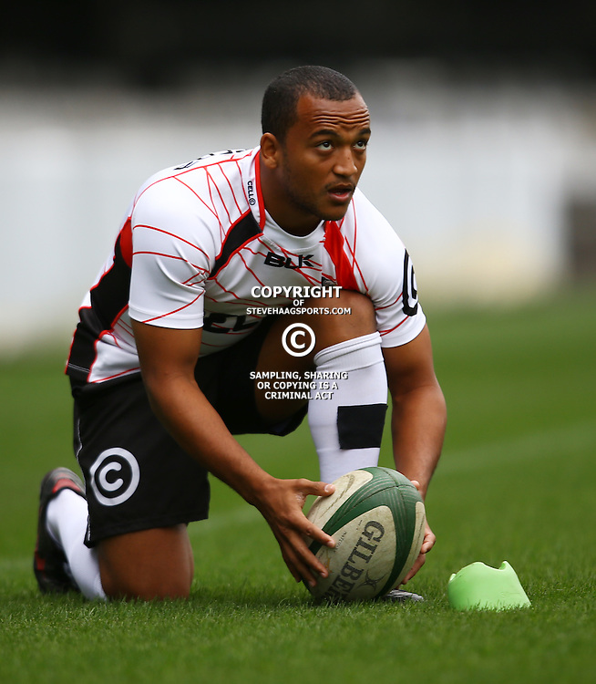 DURBAN, SOUTH AFRICA, 9 September, 2016 -Rhyno Smith during The Cell C Sharks Captains Run at Growthpoint Kings Park in Durban, South Africa. (Photo by Steve Haag)<br /> <br /> images for social media must have consent from Steve Haag