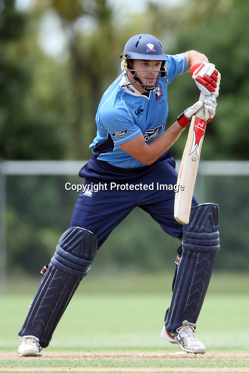 Kyle Mills. Auckland Aces v Central Stags, One Day Cricket. Colin Maiden Park, Auckland, Wednesday 19 January 2011. Photo: Ella Brockelsby/photosport.co.nz