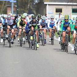 The peloton in the 3th stage around the Blauwe Stad energiewachttour