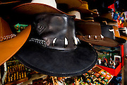 Nicaragua / Masaya / Mercado / Leather Hats / Alligator Teeth