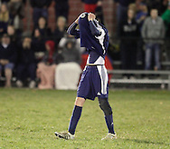 Susquehanna Valley's Joe Stento walks off the field following a 3-1 loss to Ichabod Crane in a Class B state semifinal game at Faller Field in Middletown on Saturday, Nov. 17, 2012.