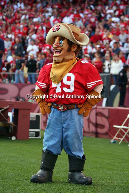 The San Francisco 49ers mascot looks on during the NFL football game against the Tennessee Titans, November 8, 2009 in San Francisco, California. The Titans won the game 34-27. (©Paul Anthony Spinelli)