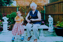 Jemma aged six and her Grandmother Sylvia. Jemma Llewellyn, 22, who has waived her right to anonymity, has been successful in the prosecution of her uncle Richard Wallace 36 after he sexually assaulted her while she was seven months pregnant, asleep on her mother's sofa. Southend-On-Sea, March 29 2019.