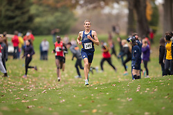 Nick Falk of the Windsor Lancers runs in the men's  10K Run at the 2013 CIS Cross Country Championships in London Ontario, Saturday,  November 9, 2013.<br /> Mundo Sport Images/ Julie Robins