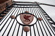 general shot of the gate and LFC crest  the Premier League match between Liverpool and Crystal Palace at Anfield, Liverpool, England on 19 August 2017. Photo by Sebastian Frej.