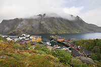 Fishing village on the Lofoten Islands Norway
