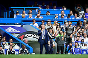 Leicester City Manager Claudio Ranieri during the Barclays Premier League match between Chelsea and Leicester City at Stamford Bridge, London, England on 15 May 2016. Photo by Jon Bromley.