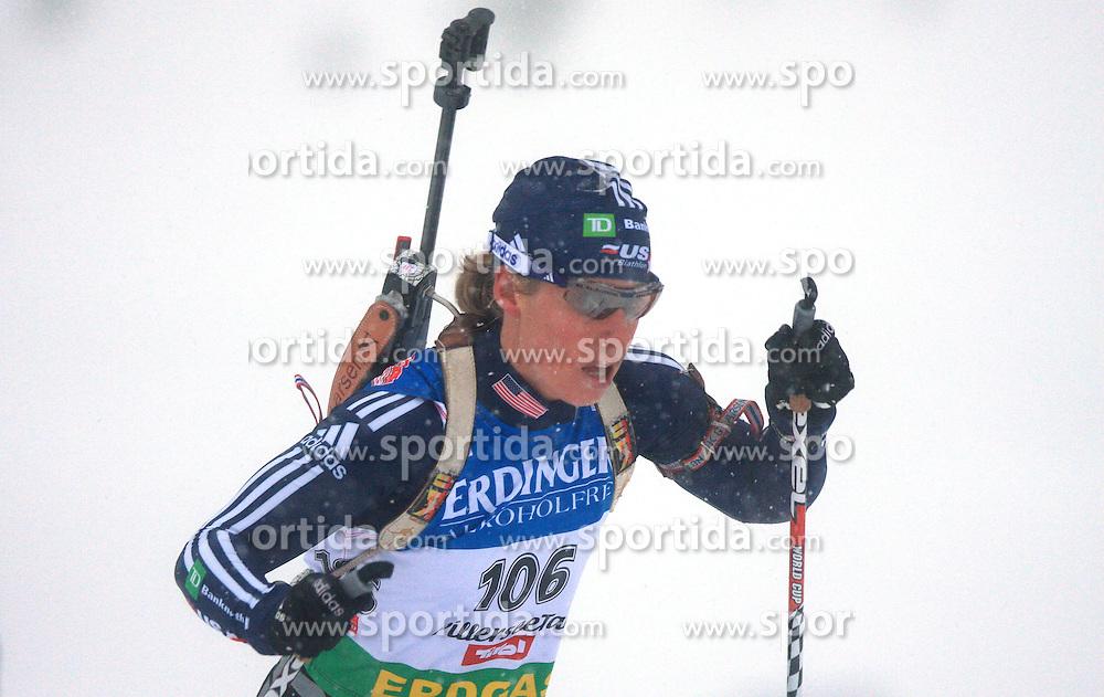 Tracy Barnes (USA) at Women 15 km Individual at E.ON Ruhrgas IBU World Cup Biathlon in Hochfilzen (replacement Pokljuka), on December 18, 2008, in Hochfilzen, Austria. (Photo by Vid Ponikvar / Sportida)