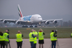 Glasgow Airport and Emirates make Scottish Aviation history with first arrival of the iconic A380 aircraft at Glasgow Airport.