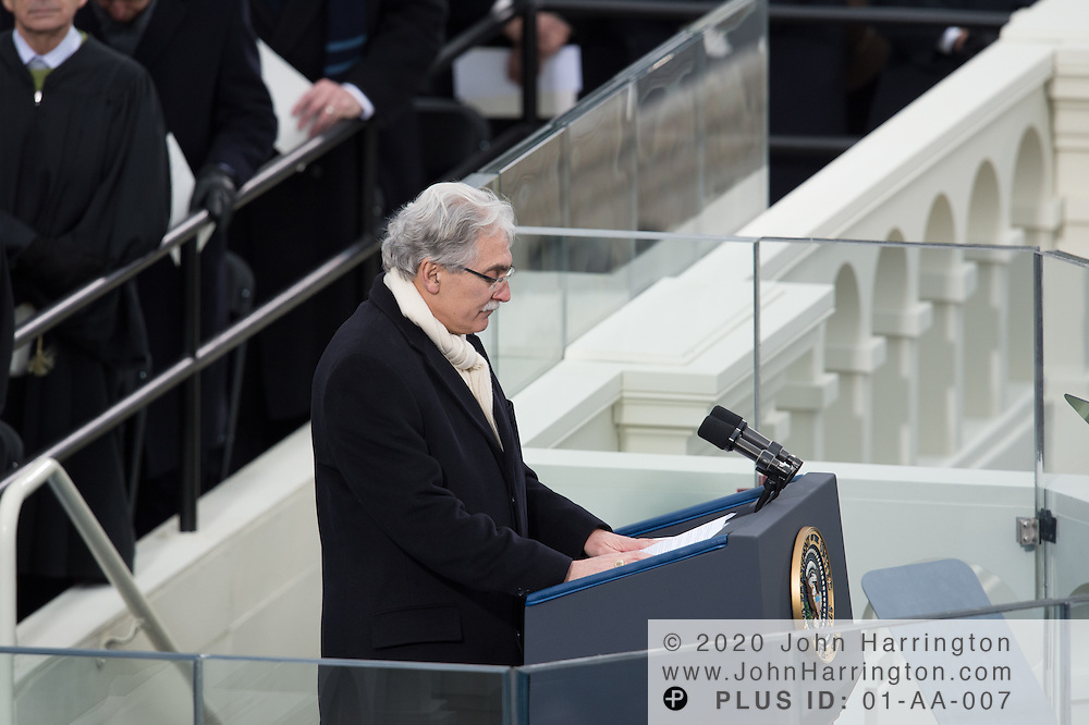 Rev. Luis Leon gives the benediction during the 57th Presidential Inauguration of President Barack Obama at the U.S. Capitol Building in Washington, DC January 21, 2013.