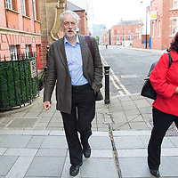 WARRINGTON, UK:<br /> Jeremy Corbyn MP arrives for the Labour Leadership Hustings at the Pyramid Parr Hall on Saturday morning, 25th July 2015.<br /> PHOTOGRAPH BY TERRY KANE / BARCROFT MEDIA LTD<br /> <br /> UK Office, London.<br /> T: +44 845 370 2233<br /> E: pictures@barcroftmedia.com<br /> W: www.barcroftmedia.com<br /> <br /> Australasian &amp; Pacific Rim Office, Melbourne.<br /> E: info@barcroftpacific.com<br /> T: +613 9510 3188 or +613 9510 0688<br /> W: www.barcroftpacific.com<br /> <br /> Indian Office, Delhi.<br /> T: +91 997 1133 889<br /> W: www.barcroftindia.com
