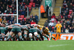Jack Willis of Wasps during a scrum - Mandatory by-line: Arron Gent/JMP - 15/02/2020 - RUGBY - Welford Road Stadium - Leicester, England - Leicester Tigers v Wasps - Gallagher Premiership Rugby