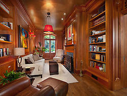 34_Kalorama_wood paneled library
