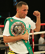 Picture by Alan Stanford/Focus Images Ltd +44 7915 056117<br /> 16/11/2013<br /> James Degale wins on points to retain his <br /> WBC super-middleweight title at Glow Bluewater, Greenhithe.