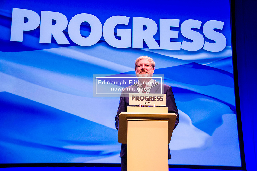 Pictured: Depute leader, Angus Robertson<br /> The members of the SNP gathered in the Scottish Events Centre in Glasgow for their annual conference.<br /> <br /> Ger Harley   EEm 10 October 2017