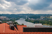 Cityscape of Coimbra and the Mondego river as seen from the University. Coimbra, Portugal