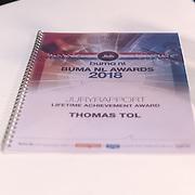 NLD/Den Haag/20180920 - Minister Ingrid van Engelshoven reikt de Life Time Achievement Award uit aan Thomas Tol, Juryrapport