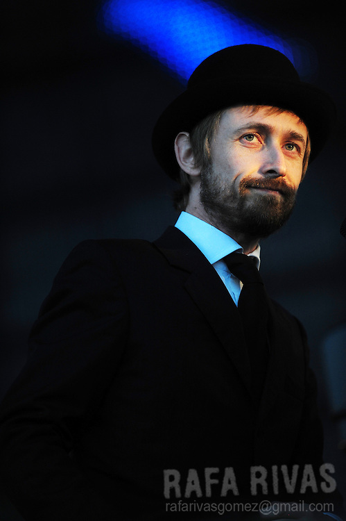Irish musician Neil Hannon, singer of The Divine Comedy, performs during the 45 Jazzaldia festival, on July 24, 2010, in northern Spanish city of San Sebastian.