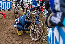 Sandy Dujardin (FRA), Men Juniors, Cyclo-cross World Championship Tabor, Czech Republic, 31 January 2015, Photo by Pim Nijland / PelotonPhotos.com