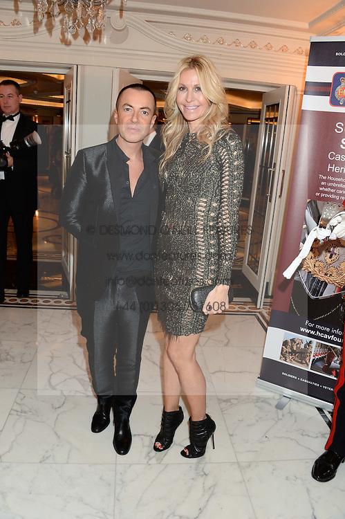 JULIEN MACDONALD and MELISSA ODABASH at Fashion For The Brave at The Dorchester, Park Lane, London on 8th November 2013.