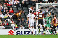 Aaron McLean of Bradford City (2nd left) scores the opening goal against Milton Keynes Dons during the Sky Bet League 1 match at stadium:mk, Milton Keynes<br /> Picture by David Horn/Focus Images Ltd +44 7545 970036<br /> 16/09/2014