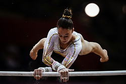 November 2, 2018 - Doha, Qatar - Nina Derwael of  Belgium   during  Uneven Bars for Women at the Aspire Dome in Doha, Qatar, Artistic FIG Gymnastics World Championships on 2 of November 2018. (Credit Image: © Ulrik Pedersen/NurPhoto via ZUMA Press)