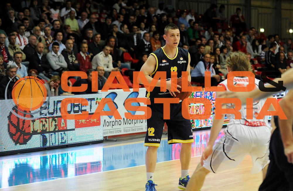 DESCRIZIONE : Bologna Lega Basket A2 2011-12 Morpho Basket Piacenza Tezenis Verona<br /> GIOCATORE : Donnie McGrath<br /> CATEGORIA : Commercial<br /> SQUADRA : Tezenis Verona<br /> EVENTO : Campionato Lega A2 2011-2012<br /> GARA : Morpho Basket Piacenza Tezenis Verona<br /> DATA : 05/05/2012<br /> SPORT : Pallacanestro<br /> AUTORE : Agenzia Ciamillo-Castoria/A.Giberti<br /> Galleria : Lega Basket A2 2011-2012 <br /> Fotonotizia : Bologna Lega Basket A2 2011-12 Morpho Basket Piacenza Tezenis Verona<br /> Predefinita :