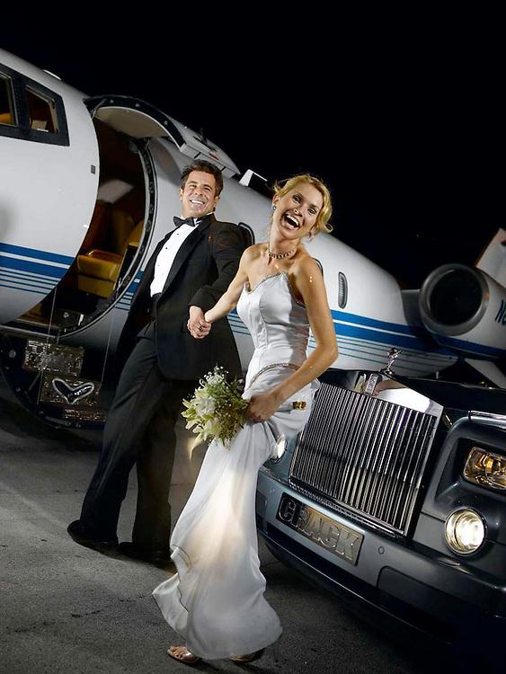 Plane Rolls Wedding