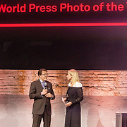 NLD/Amsterdam/20180412 - Prins Constantijn en Prinses Laurentien aanwezig bij uitreiking World Press Photo of the Year, Prins Constantijn en Dionne Stax