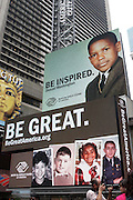 10 June 2010- New York, NY- Atmosphere at The Boys and Girls Clubs of America's (BGCA)' Be Great ' Youth Advocacy Campaign unveling new billboard featuring her childhood picture and inspirational message ' Be Extraordinary ' held at Duffy Square on June 10, 2010 in New York City.