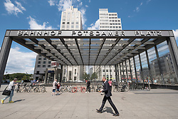 Entrance Potsdamer Platz railway station at Potsdamer Platz in Berlin Germany