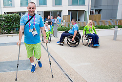 Francek Gorazd Tirsek of Slovenia in Paralympic village during Day 9 of the Summer Paralympic Games London 2012 on September 8, 2012, in Paralympic village, London, Great Britain. (Photo by Vid Ponikvar / Sportida.com)