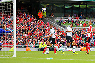 Jon Flanagan of Liverpool scores a goal during the Pre-season Friendly match at the Aviva Stadium, Dublin<br /> Picture by Yannis Halas/Focus Images Ltd +353 8725 82019<br /> 05/08/2017