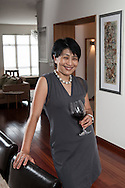 Judy Leissner, Grace Vineyards CEO photographed at home, Hong Kong.
