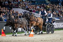 Exell Boyd, AUS,  Bajnok, Clinton Star, Demi, Neapiolitano<br /> FEI World CupTM Driving - Stuttgart 2018<br /> © Hippo Foto - Stefan Lafrentz<br /> 16/11/2018