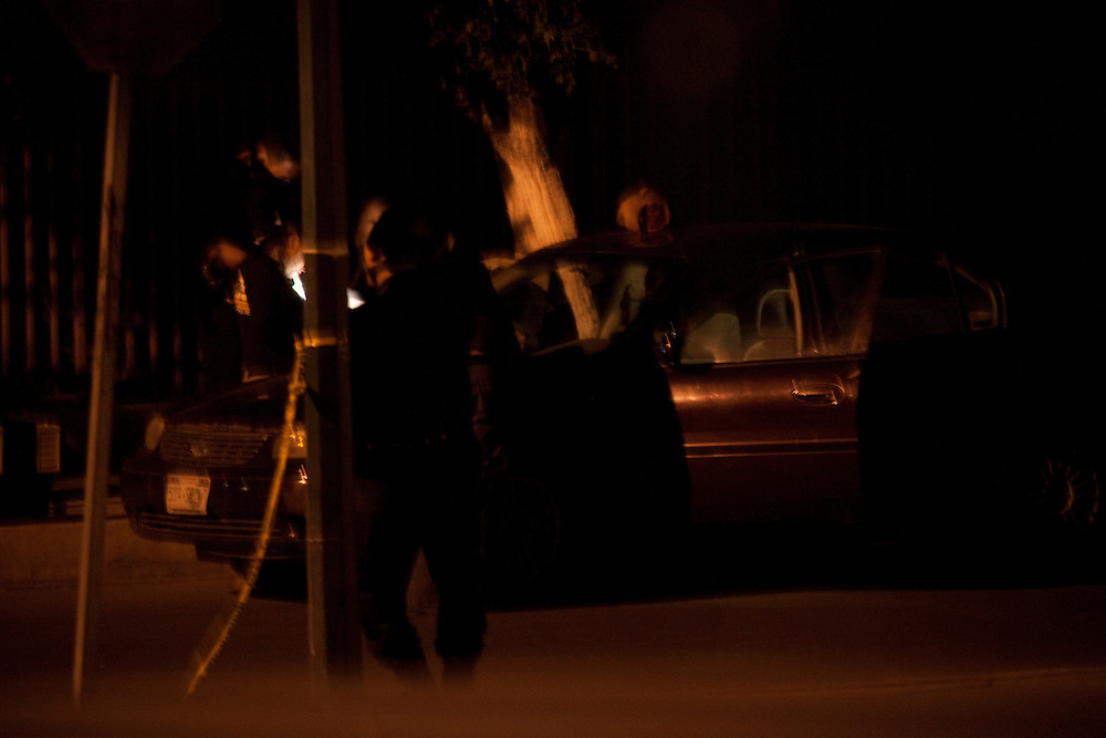 The scene of a murder, where a man was decapitated, in Ciudad Juarez, Chihuahua on May 14, 2010.