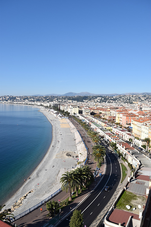Promenade Des Anglais view from the chateaux
