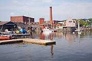 Floating harbour and nineteenth century industrial buildings, Hotwells, Bristol