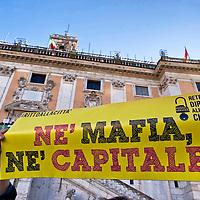 Manifestazione in Campidoglio contro Mafia Capitale