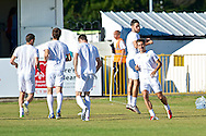 Picture by Ian Wadkins/Focus Images Ltd +44 7877 568959<br /> 25/07/2013<br /> Players of FC Rijeka warm up ahead of the second leg of the UEFA Europa League round two qualifying match at Belle Vue Stadium, Rhyl.
