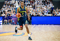 Anthony Randolph of Slovenia during basketball match between National Teams of Finland and Slovenia at Day 3 of the FIBA EuroBasket 2017 at Hartwall Arena in Helsinki, Finland on September 2, 2017. Photo by Vid Ponikvar / Sportida