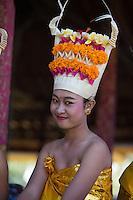 A Balinese dancer at the Pura Besakih Temple on Bali