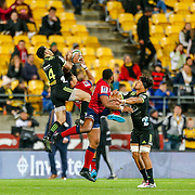 Action during the Super rugby union game (Round 14) played between Hurricanes v Reds, on 18 May 2018, at Westpac Stadium, Wellington, New  Zealand.    Hurricanes won 38-34.