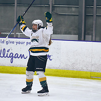 2nd year forward, Jordan Kulbida (18) of the Regina Cougars during the Women's Hockey Home Game on Sat Oct 20 at The Co-operators Arena. Credit: Arthur Ward/Arthur Images