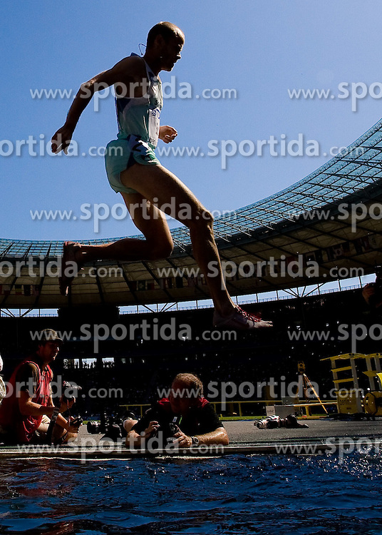 Bostjan Buc of Slovenia competes during the men's 3000m steeplechase round 1 heat 3 race of the 2009 IAAF Athletics World Championships on August 16, 2009 in Berlin, Germany. (Photo by Vid Ponikvar / Sportida)