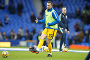 Brighton and Hove Albion defender Shane Duffy (22) during the warming up Premier League match between Everton and Brighton and Hove Albion at Goodison Park, Liverpool, England on 10 March 2018. Picture by Craig Galloway.