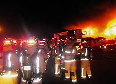 Auckland-100 firefighters quell plastics factory blaze, Henderson