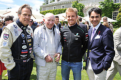 Left to right, the EARL OF MARCH & KINRARA, JOHN SURTESS, NICO ROSBERG and FRANCOIS LE TROQUER at a luncheon hosted by Cartier for their sponsorship of the Style et Luxe part of the Goodwood Festival of Speed at Goodwood House, West Sussex on 1st July 2012.