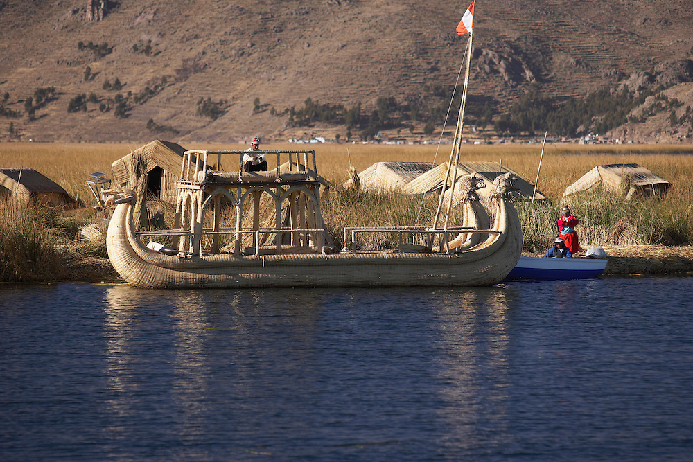 Uros Floating Islands (Las Islas Flotantes)  Lake Titicaca  Peru