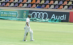 Johannesburg 19-12-18. South Africa Invitation XI vs Pakistan. Pakistan open their tour of South Africa with a three-day match at Sahara Willowmoore Park, Benoni. Day 1, afternoon session. South African batsman Tshepang Dithole out for 12 runs off 30 balls. Picture: Karen Sandison/African News Agency(ANA)